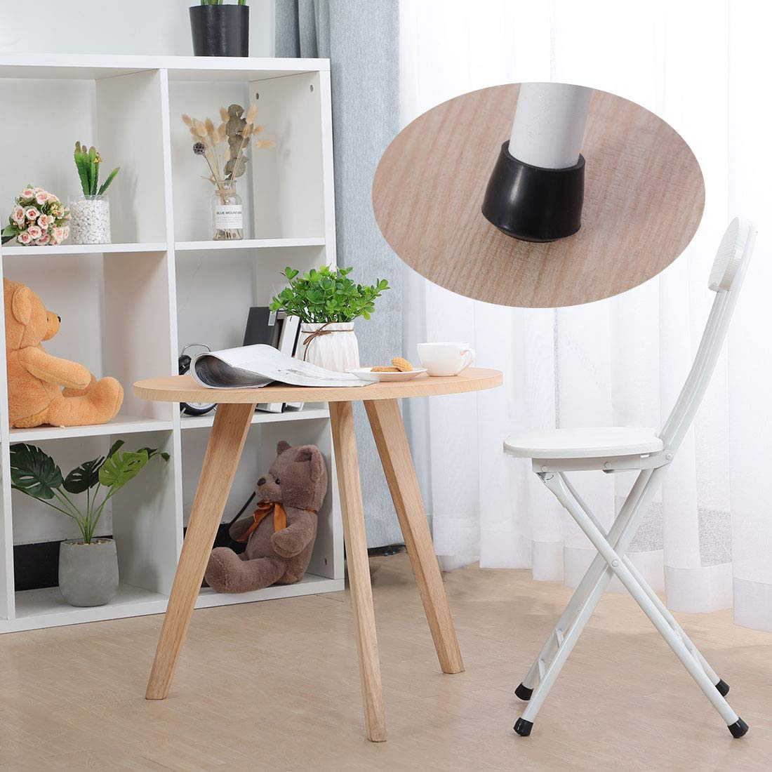 4pcs Chair Leg Caps Rubber Feet Protector Furniture Table Desk Round Head Covers