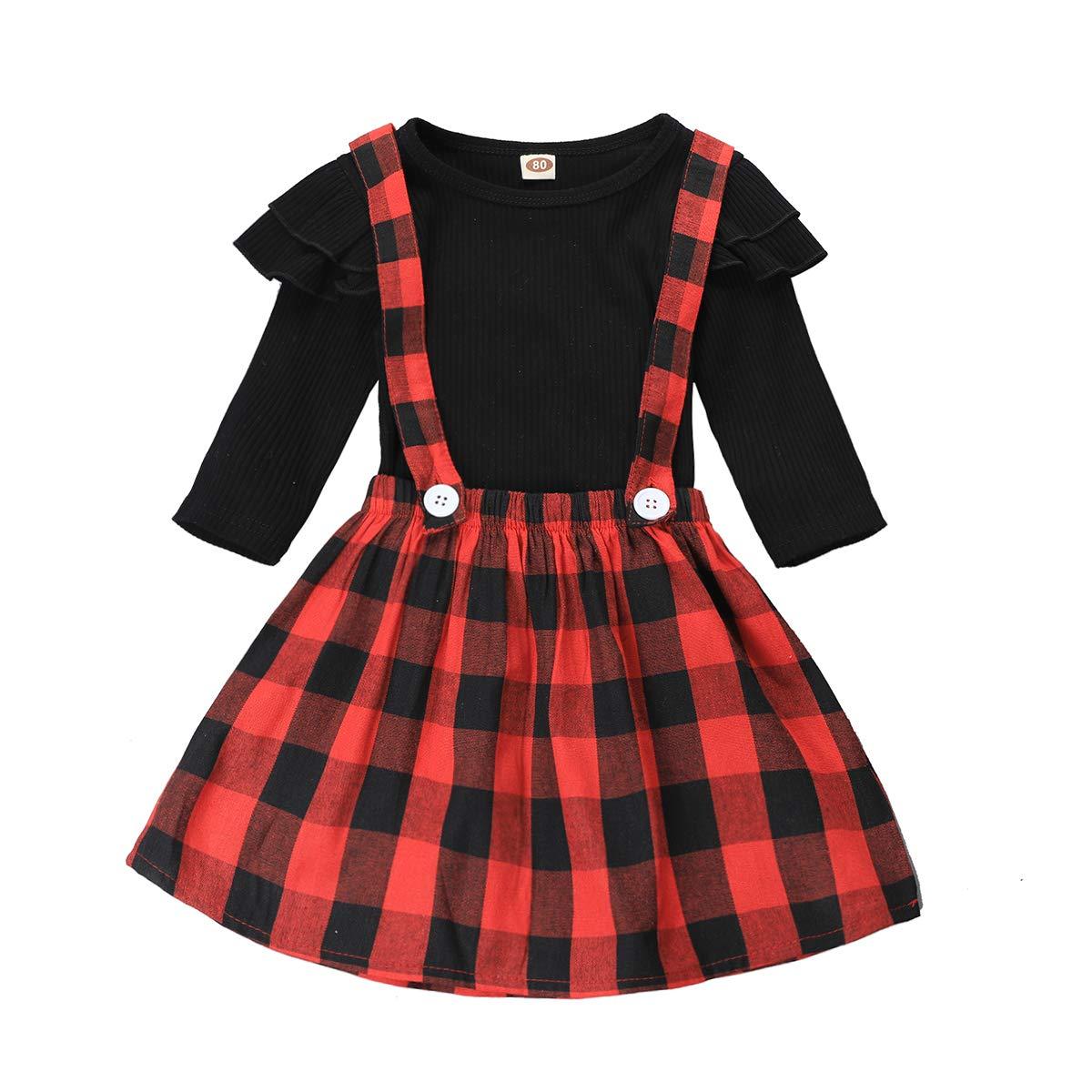 Polka Dot Overall Dress Bow Polka Dot Skirt Set Baby Girls Skirts Set Ruffle Cloth