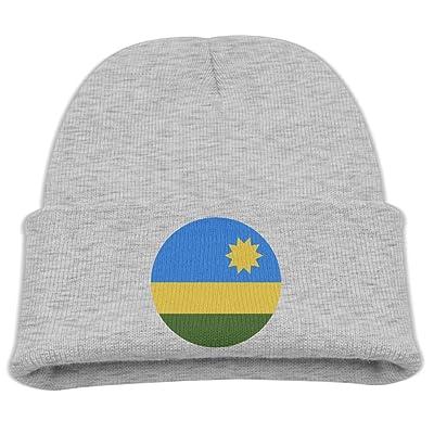 OQHO12 Rwanda Kids Hat Warm Soft Fashion Cute Knitted Cap for Autumn Winter