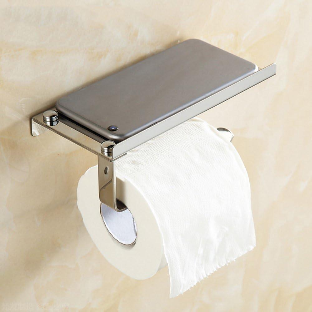 negocios EMVANV Tama/ño libre Blanco Portarrollos de papel higi/énico de acero inoxidable para ba/ño barra familiar