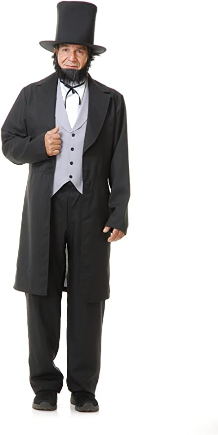 Victorian Men's Costumes: Mad Hatter, Rhet Butler, Willy Wonka Charades - Abe Lincoln Costume $69.99 AT vintagedancer.com