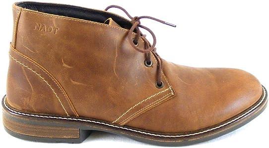 Rabatt Leder Schnürhalbschuhe Schuhe Herren Naot dunkelbraun