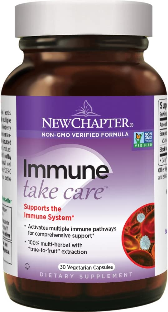 New Chapter Elderberry Supplement – Immune Take Care with Black Elderberry Black Currant for Immune Support – 30 ct Vegetarian Capsule