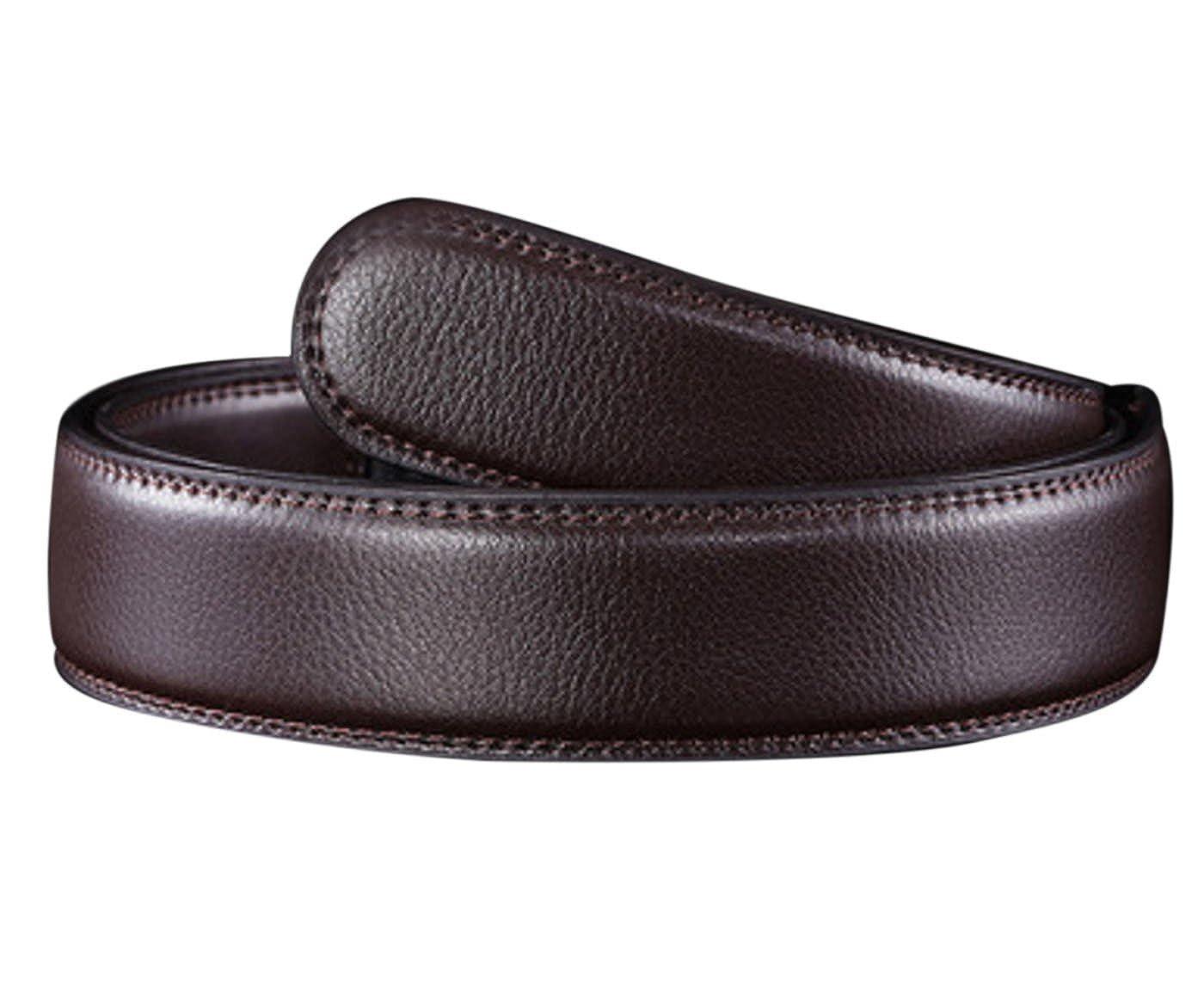 Panegy - Cinturón Clásico de Cuero Piel sin Hebilla Automática Para Hombres Correa de Cintura