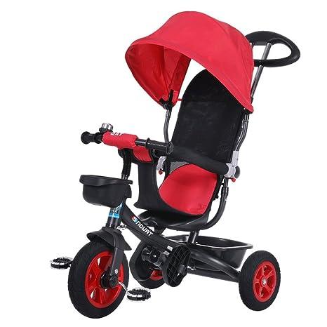 Fenfen Triciclo para niños Bicicleta 1-6 años Cochecito para ...