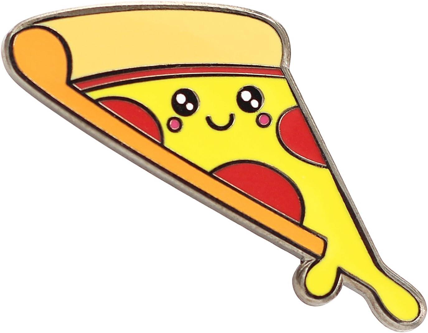 Pizza Enamel Pin by Real Sic - Cute Enamel Pin - Super Kawaii Food Lapel Pin