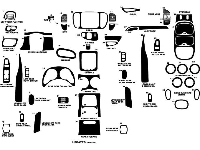Amazon Com Rdash Dash Kit Decal Trim For Lincoln Navigator 1998