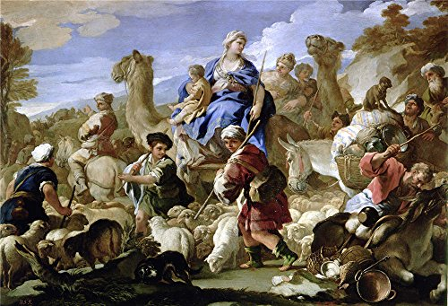 Oil Painting 'Giordano Luca Viaje De Jacob A Canaan Ca. 1687' 24 x 35 inch / 61 x 89 cm , on High Definition HD canvas prints is for Gifts (Fashion History Costume Trends And Eras)