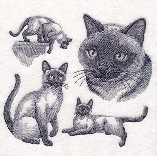 Siamese Cat Custom Embroidered Sweatshirt Shirt by SewUnusuals