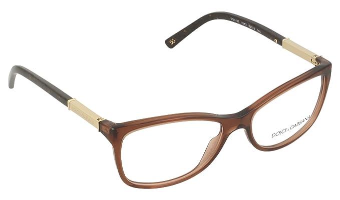 ad37fa0e8a Dolce   Gabbana Women s 3107 Transparent Brown Frame Plastic Eyeglasses
