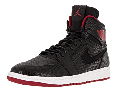 Nike Jordan Mens Air Jordan 1 Retro High Nouv Black Gym Red White Basketball bef951e13
