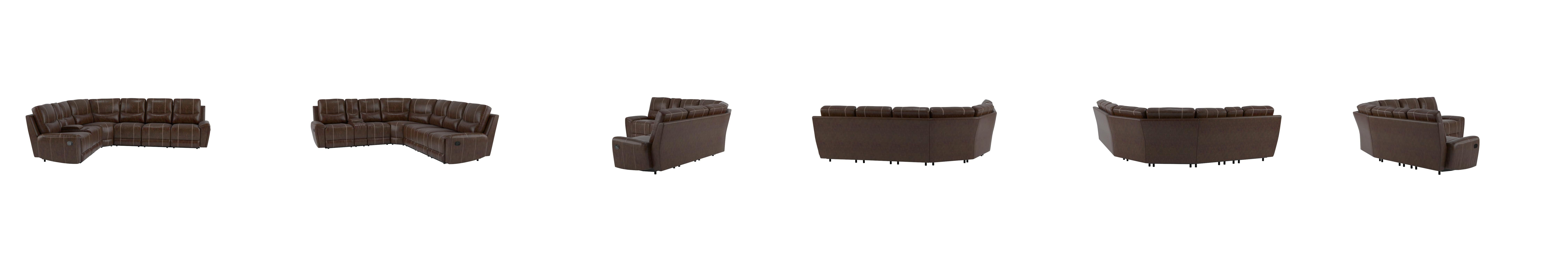 Amazon Homelegance 4 Piece Bonded Leather Sectional Reclining