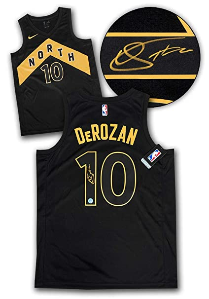 Demar DeRozan Toronto Raptors Autographed Autograph Black Gold City Nike  Swingman Jersey - Certificate of Authenticity 3edb807a1