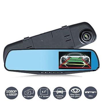 Cámara de visión delantera y trasera para el coche, tacógrafo, vídeo 1080P Full HD