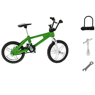 Baoblaze Hot 1/24th Miniature Mountain Bicycle Toy Diecast Finger Bike Board Game Creative Toy Collections –Green