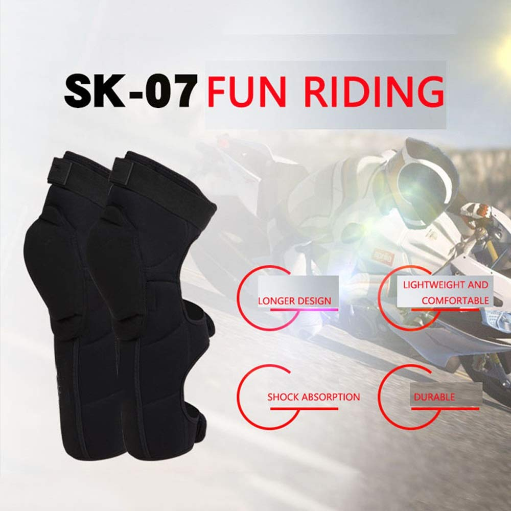TY BEI Kneepad Kneepad - Motorcycle Knee Pads Protector Sports Scooter Motor-Racing Guards Gears Scooter Protective Kneepad L/XL @@ (Color : Black, Size : L) by TY BEI (Image #7)