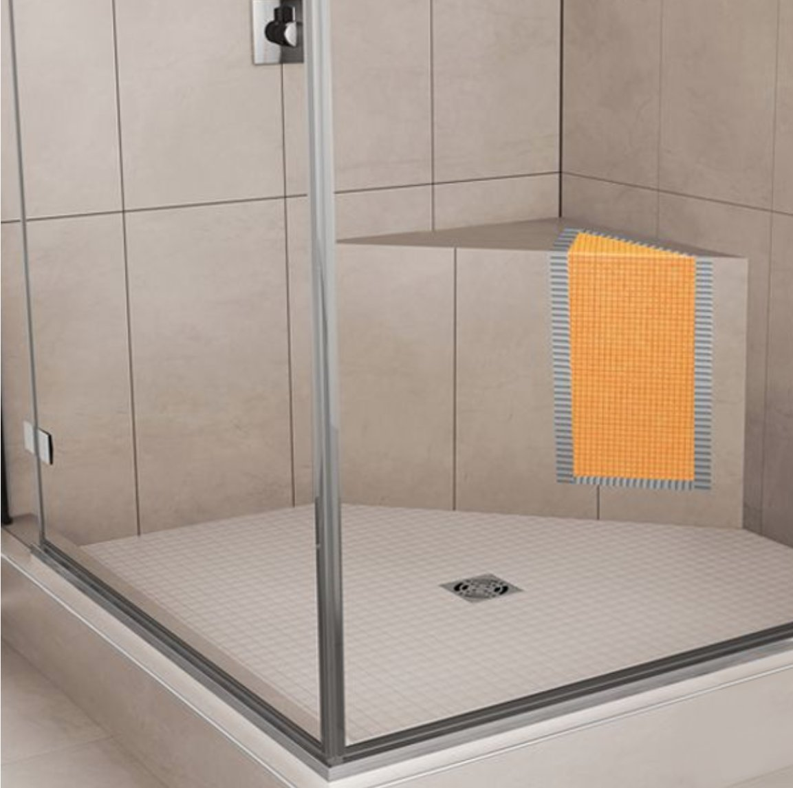 Schluter Systems: Kerdi Board Shower Bench (Triangular 16\