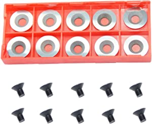 Ci0 16mm Round Carbide Inserts Cutters Knifes Indexable Replacement with Screws Fits For Full And Pro SizePopular DIY Wood Turning Finisher Hollower Tools Woodworking Lathe 10pcs