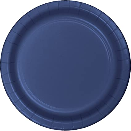 24-Count Touch of Color Round Paper Dinner Plates Navy Blue  sc 1 st  Amazon.com & Amazon.com: 24-Count Touch of Color Round Paper Dinner Plates Navy ...