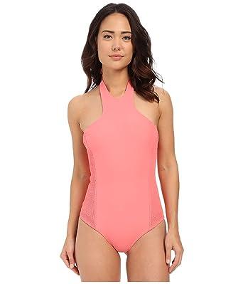 dce22eccc1c01b Tori Praver Women's Rosarito Full Coverage Hibiscus Swimsuit at ...