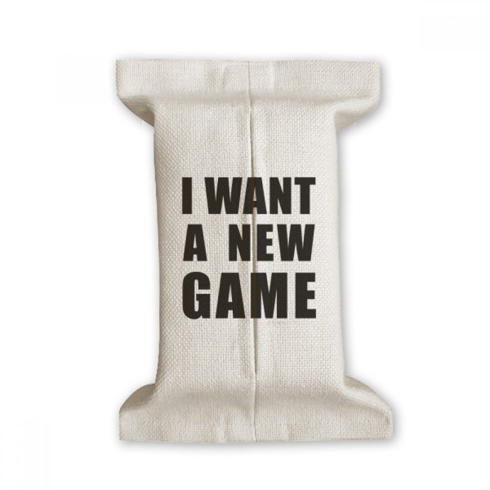 DIYthinker I Want A New Game Tissue Paper Cover Cotton Linen Holder Storage Container Gift