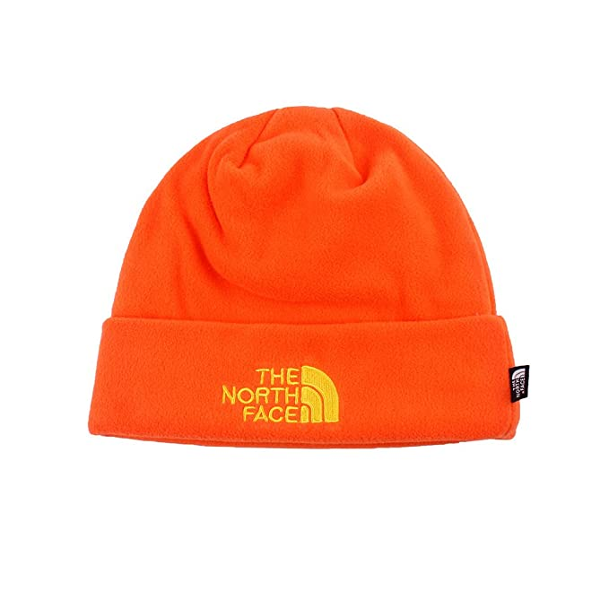 1183eea037986 The North Face Double Layers Winter Thicken Polar Fleece Thermal Beanie Hat  (Orange One Size)  Amazon.in  Clothing   Accessories