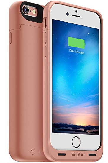 newest 8f251 47ab0 Mophie juice pack reserve - Lightweight and Compact Protective Battery Case  for iPhone 6s & iPhone 6 (NOT Plus) Rose Gold (Renewed)