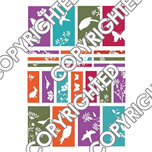 (Nunn Design Transfer Sheet Colorful Silhouettes - Fits Channel Beads/Half Sheet)