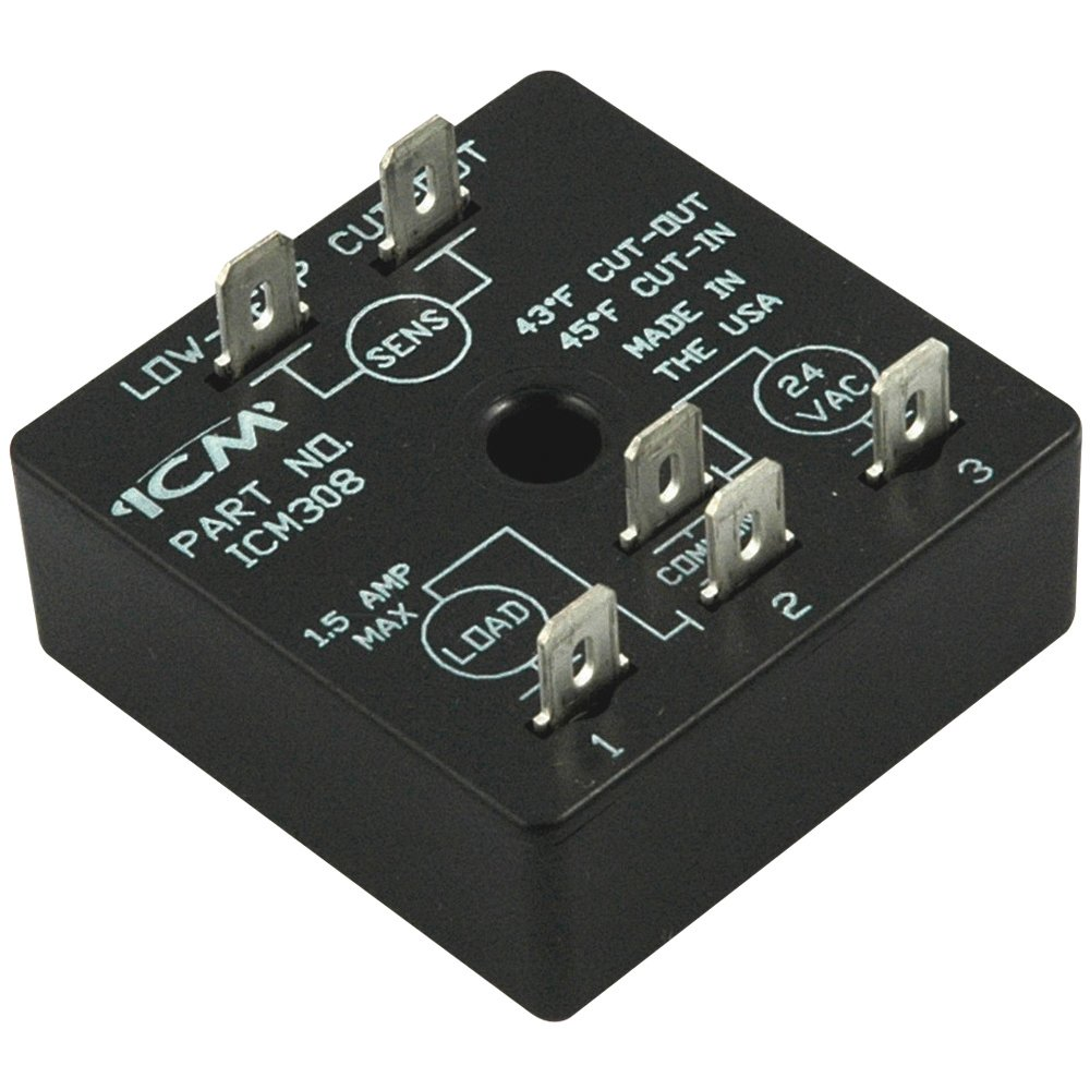 ICM Controls ICM308 Freeze Protection Module, Fixed Set Point, Off (Cut-Out) 43 Degree F/On (Cut-In) 45 Degree F