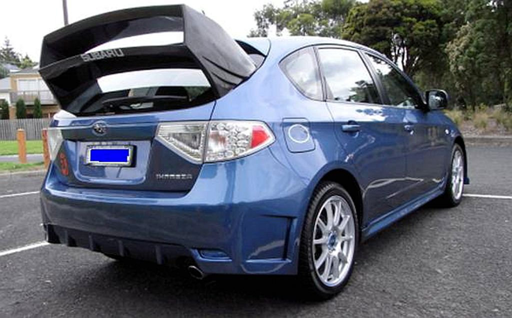 Amazon.com: Fibra de Carbono WRC Spoiler trasero para Subaru ...