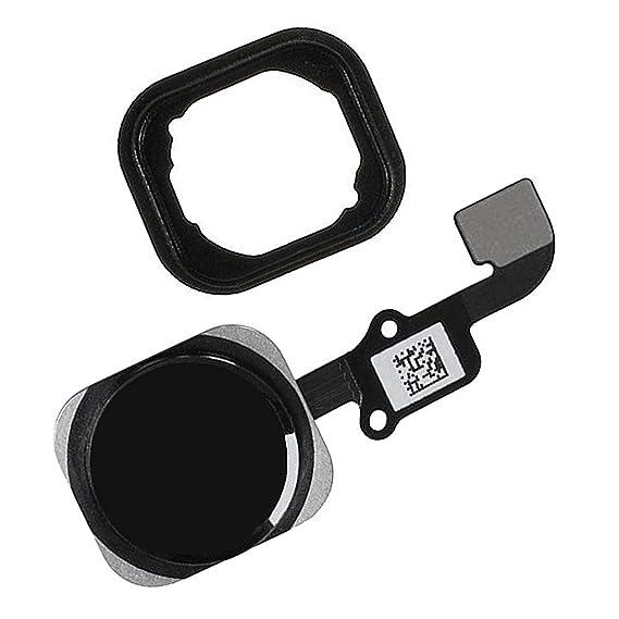 detailed look 5de39 0690c Johncase Home Button Flex Ribbon Cable Assembly w/Rubber Gasket Replacement  Part Compatible iPhone 6 4.7/6 Plus 5.5 (Black)
