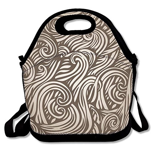 - Abstract Style Of Hair Insulated Lunch Bag - Large Reusable Lunch Tote Bags For Women, Teens, Girls, Kids, Baby, Adults Portable Carry