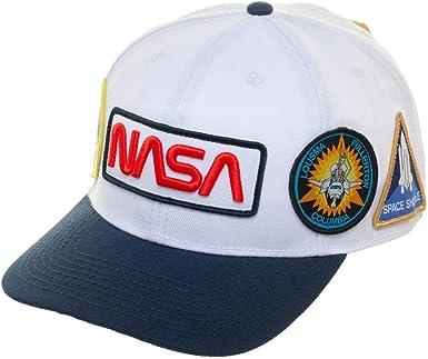 Gorra de la NASA para hombre con parche Flatbill NASA: Amazon.es ...