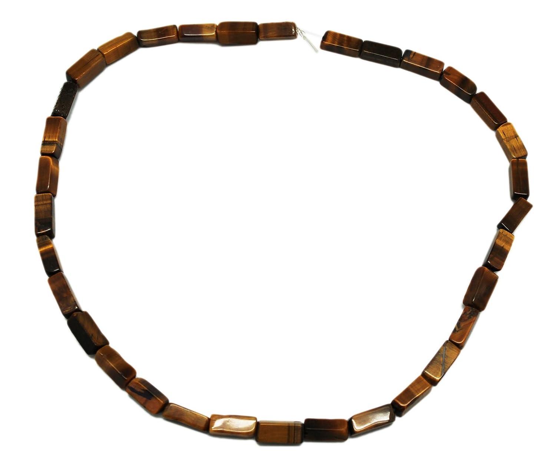 5 x 11 mm Honeyブラウンストーン長方形チューブビーズストランド( 34 Piece )   B00TEI7A52