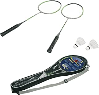 HUDORA Badmintonset Champion RS-88, 2 ALU-Schlger, Tasche, 2 Federblle