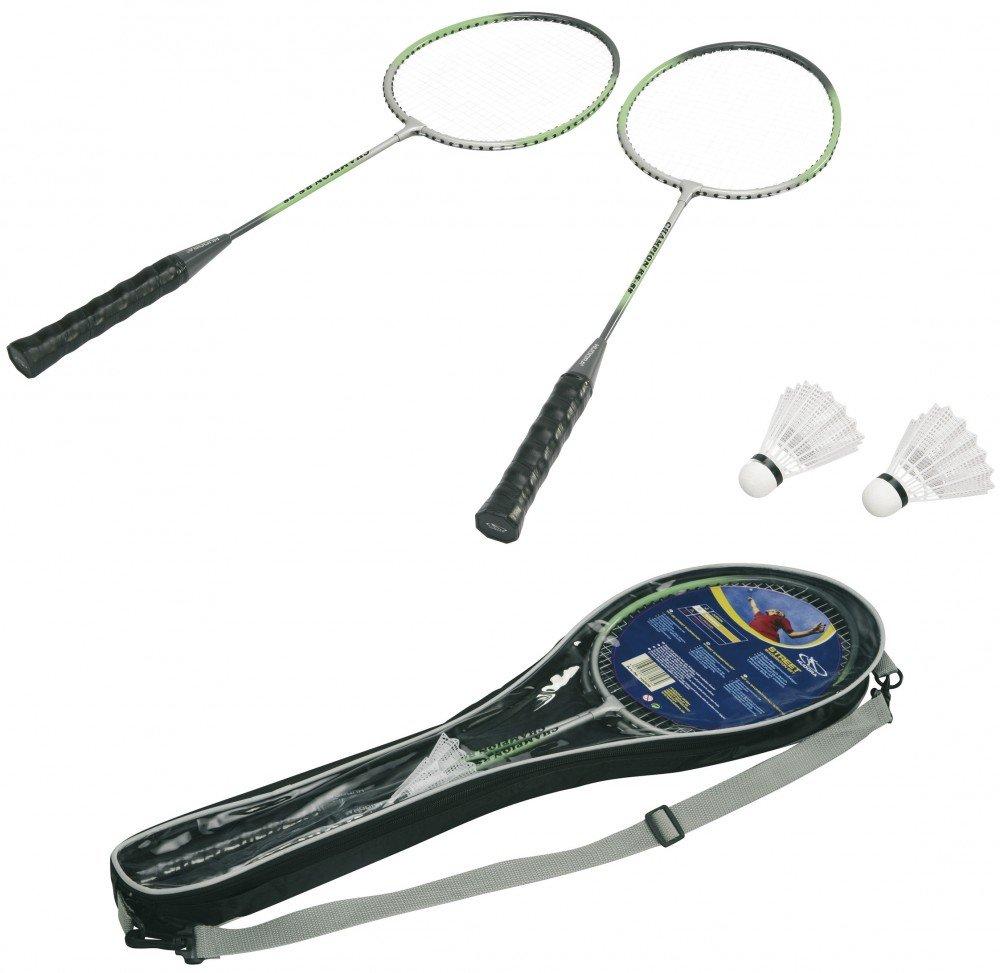 HUDORA Badmintonset Champion RS-88, 2 ALU-Schlger, Tasche, 2 Federblle 76405
