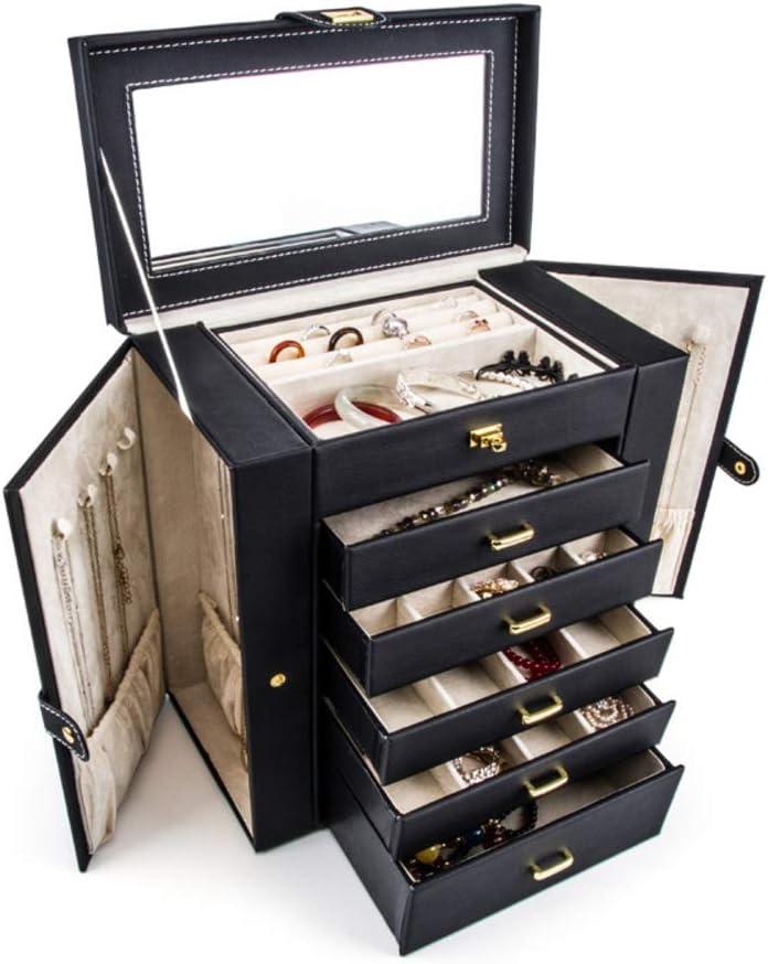 Organisateur à bijoux avec 2 tiroirs Boîte à bijoux Coffre à bijoux v ...