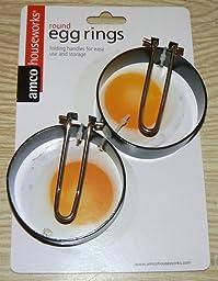 Amazon.com: Amco Round Egg Rings, Set of 2: Egg Poachers: Kitchen ...
