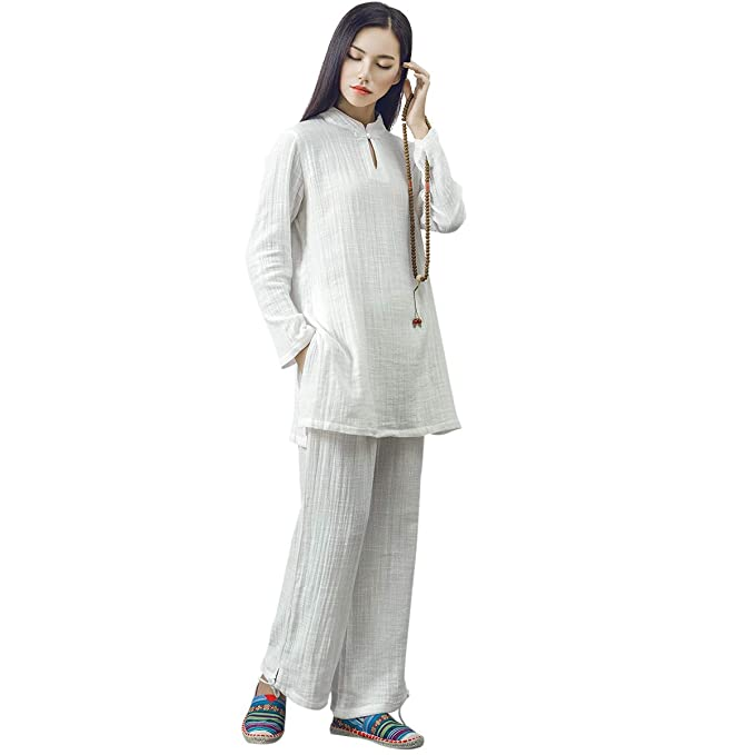 Amazon.com: KSUA Womens Chinese Kung Fu Clothing Tai Chi ...