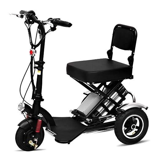 Silla de Ruedas eléctrica Ancianos discapacitados Mini Plegable ...