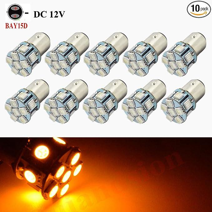Pack of 2 AUTOUS90 T20 7443 LED Light Bulbs 5630 33-SMD Super Bright W21W LED Bulb 6000K Xenon White LED Lights Bulbs for brake light Back-up Reverse Light Lamps