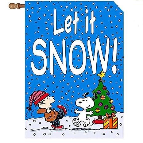Immagini Natale Linus.Peanuts Snoopy Linus Woodstock Celebrare Un Natale Nevica Let