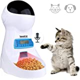 Iseebiz Automatic Cat Feeder 3L Pet Food Dispenser Feeder for Medium and Large Cat Dog——4 Meal, Voice Recorder and Timer…