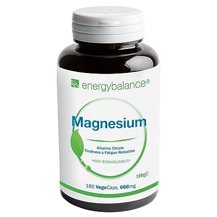 Citrato de magnesio 105mg | 100% puro Sin aditivos | Alta biodisponibilidad | Sin gluten