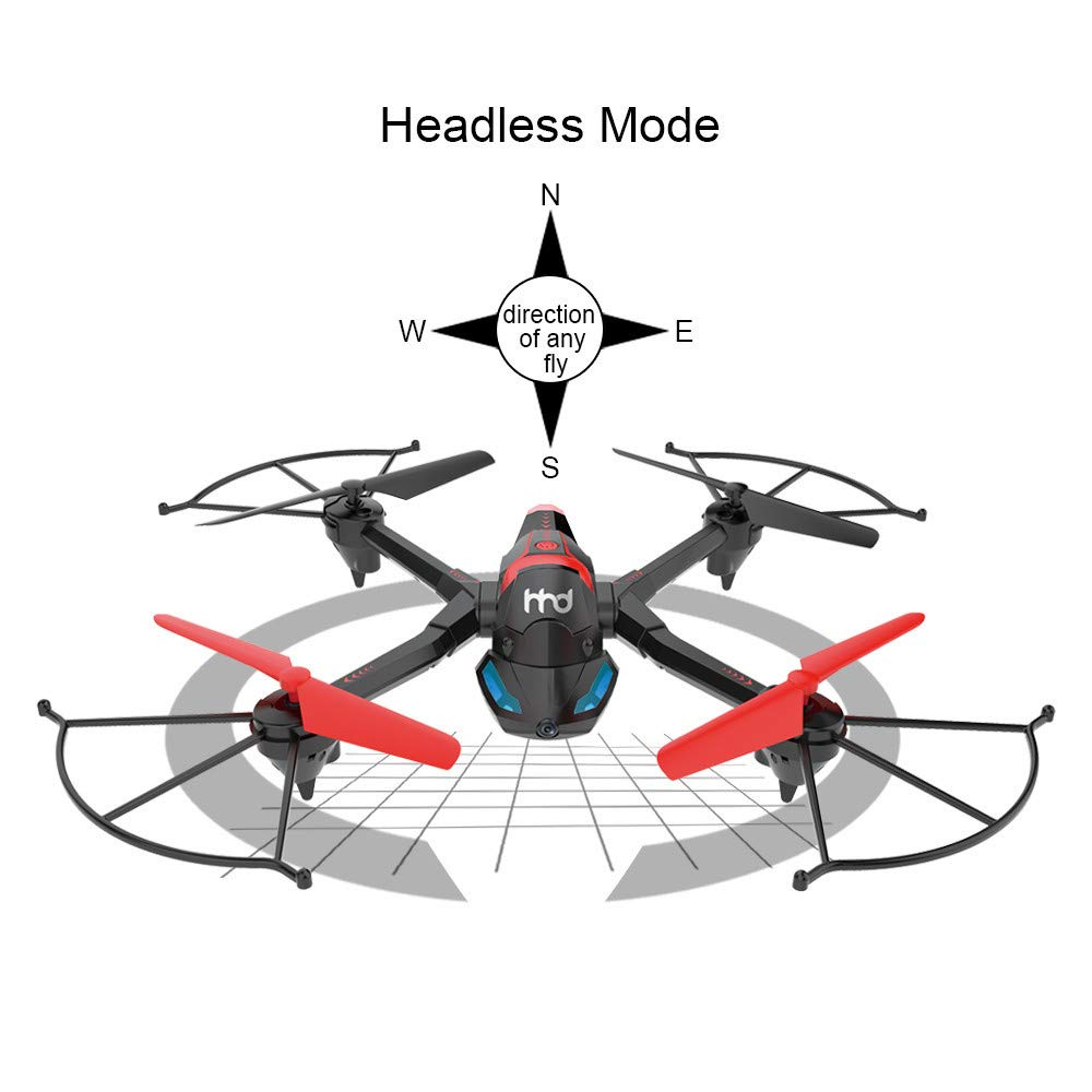 FPV Drone with Camera WiFi, RC Quadcopter 2.4G 6 Axis-Remote Control with Altitude Hold, Headless, Route Setting, One-Key Take-Off/Landing land-air-jump 3Mode Assemble Deformation (2.4G, Black) by S.H.EEE (Image #5)