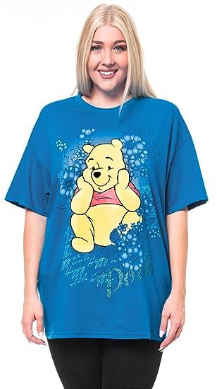 465cfebddb9 Amazon.com  Disney Women s Happy Winnie The Pooh T-shirt Plus Size ...