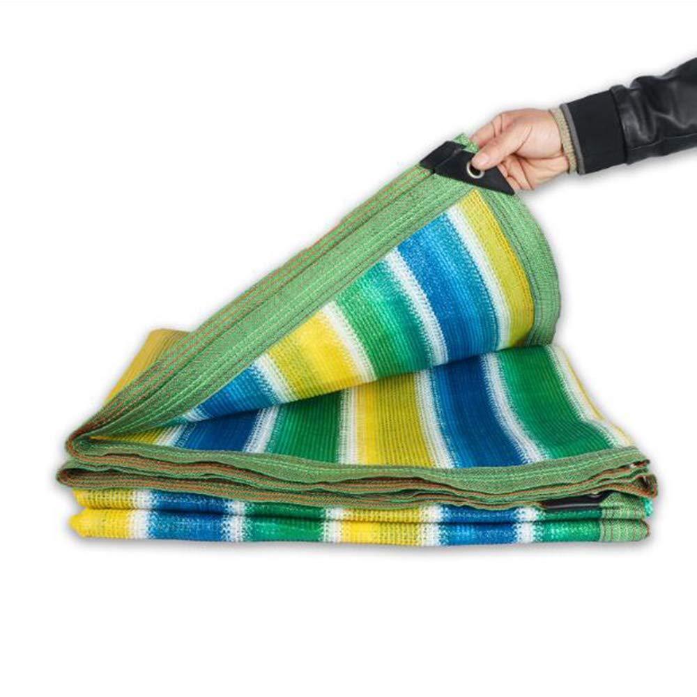 Vele parasole Xiaolin Stripe 90% Net Net, Sun Shelter, Sun Mesh Cover Cover UV Block Fabric per strutture e attività all'aperto (Dimensioni   5x8m)