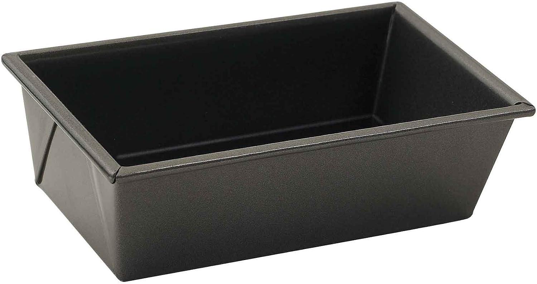 Winco Non-Stick Loaf Pan, 1 Pound, Aluminized Steel, 1, Black
