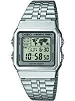 Casio Collection Unisex-Armbanduhr Collection Digital Quarz Edelstahl A500WEA-7EF