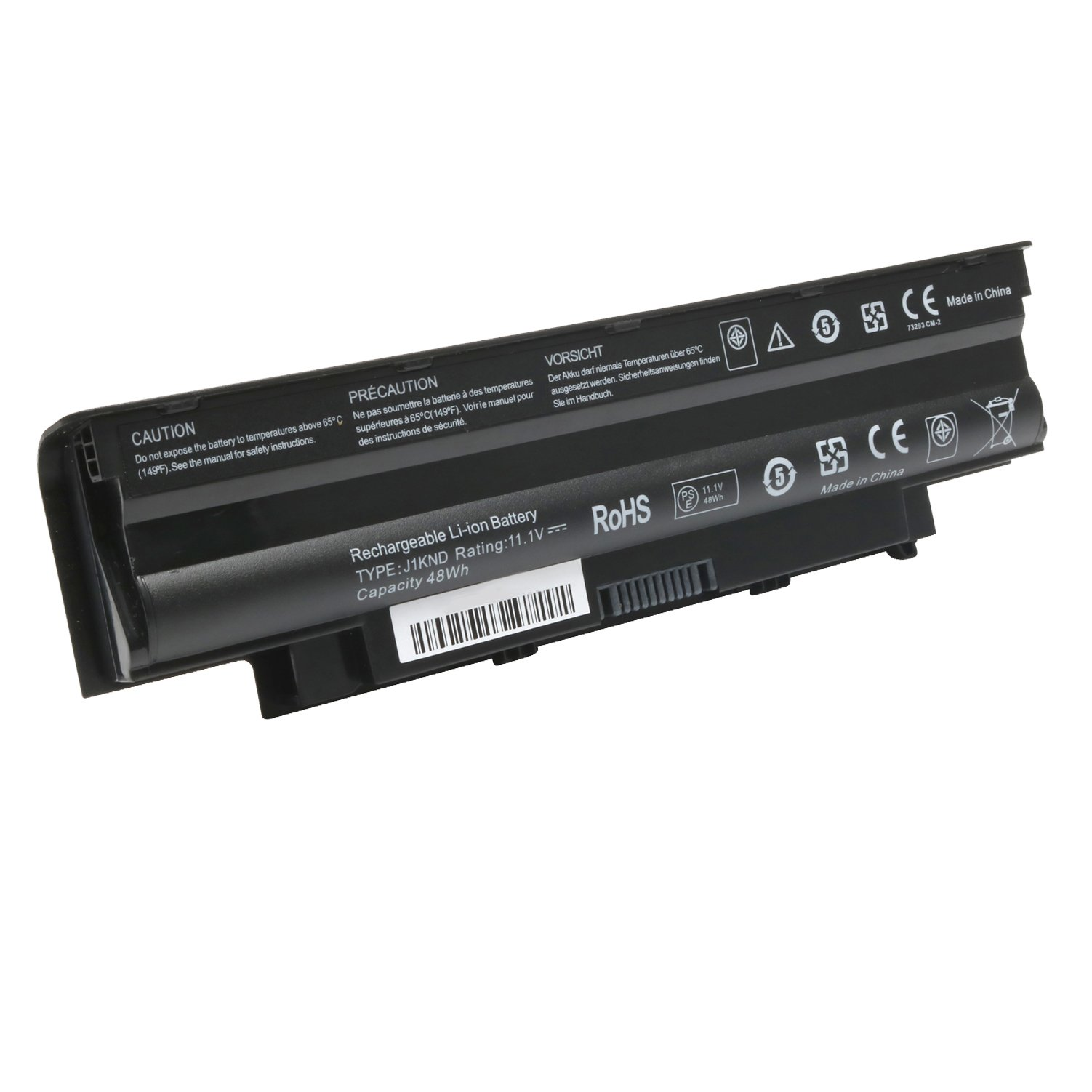Reo 11.1V 48Wh Laptop J1KND Battery for Dell Inspiron 3420 3520 13R 14R 15R 17R N3010 N4010 N4110 N5030 N5050 N5010 N5110 N7010 N7110 M5110 M4110 M501 M503, P/N: 4T7JN 04YRJH 07XFJJ 312-0233